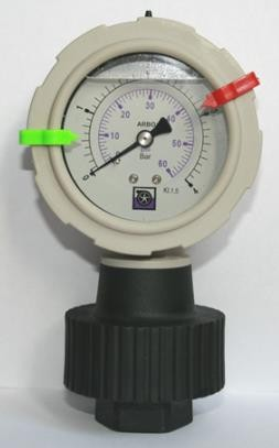 Diaphragm gauge Code MM